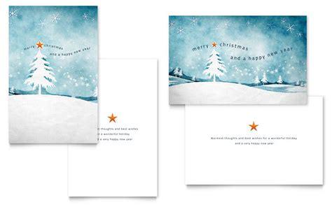 winter landscape greeting card template design