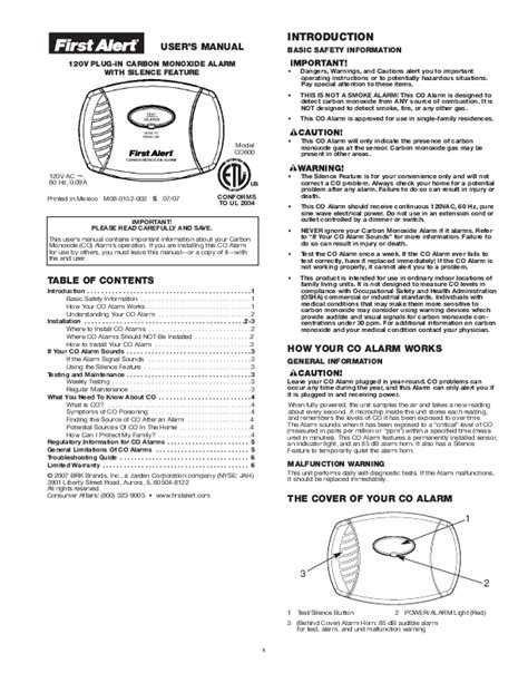 first alert 3 beeps green light brk brands inc carbon monoxide alarm user 39 s manual co600