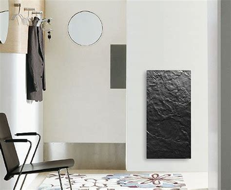 radiateur electrique design radiateur 224 inertie de qualit 233 en ardoise noir