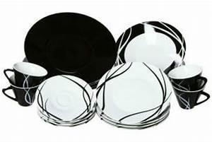 Assiette Noire Ikea : service vaisselle noir et blanc les ustensiles de cuisine ~ Teatrodelosmanantiales.com Idées de Décoration