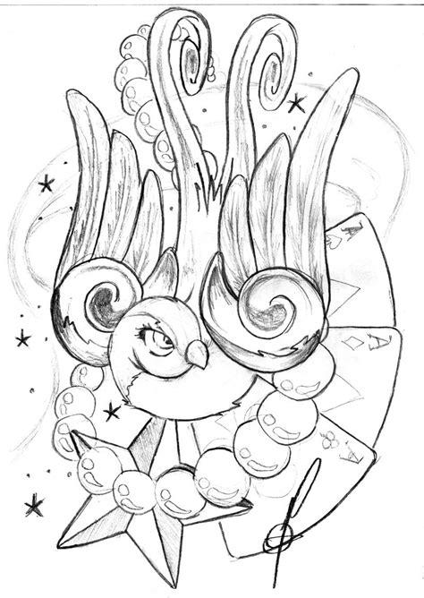 Bird tattoo | Flash art, Rose drawing tattoo, Rockabilly art