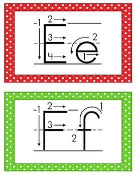 alphabet cards correct letter formation fall crafts