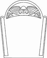 Coloring Tombstone Template Pages Coffin Gravestone Drawing Templates Clipart Headstone Cartoon Headstones Printable Outline Blank Cliparts Halloween Printables Angel Bmps sketch template