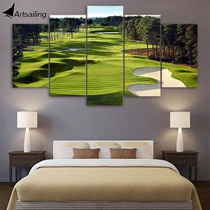 aliexpresscom buy canvas paintings printed 5 pieces With golf wall art