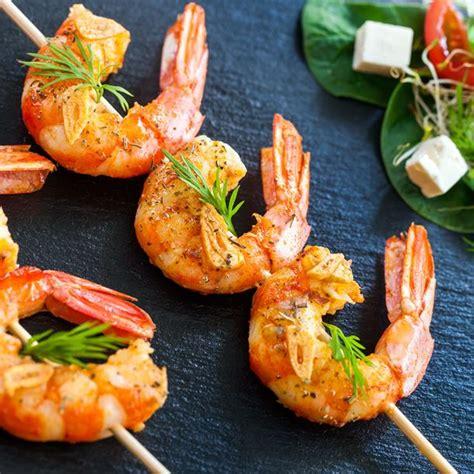 cuisine ideale recette brochettes de crevettes pour apéritif dînatoire