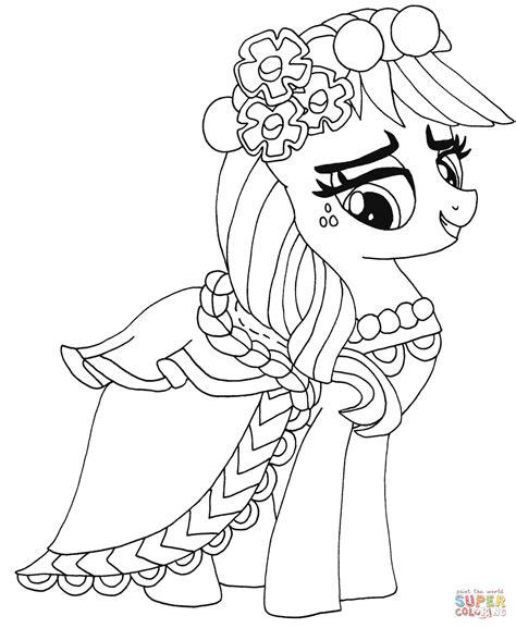 pony applejack    pony coloring page