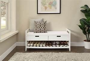 Meuble De Couloir Avec Banc : meuble chaussure industriel 14 couloir banc de rangement porte dentr233e si232ge en bois ~ Teatrodelosmanantiales.com Idées de Décoration