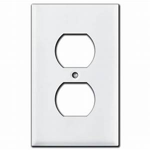 Duplex Stacked Toggle Switch Wall Plates