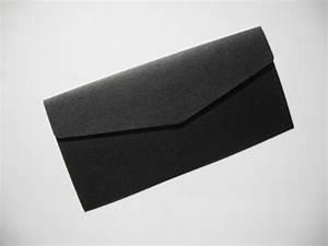 amazoncom onyx black pearlised blank pocketfold wedding With blank wallet wedding invitations