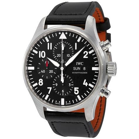 watches for men iwc pilot black automatic chronograph men 39 s watch iw377709