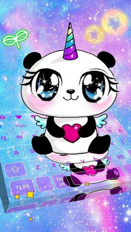 galaxy unicorn panda emoji keyboard theme  android