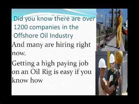 Oil Rig Jobs Images