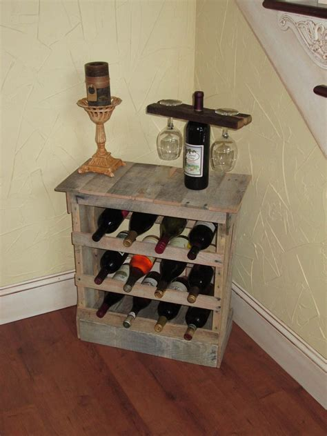 made pallet wood 12 bottle wine rack floor or counter