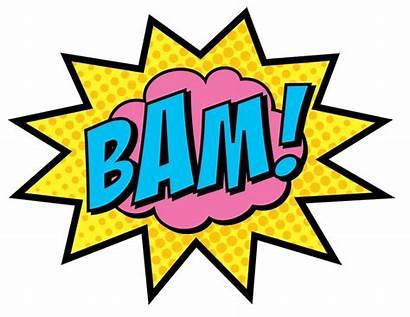 Super Superhero Words Clipart Pow Word Signs