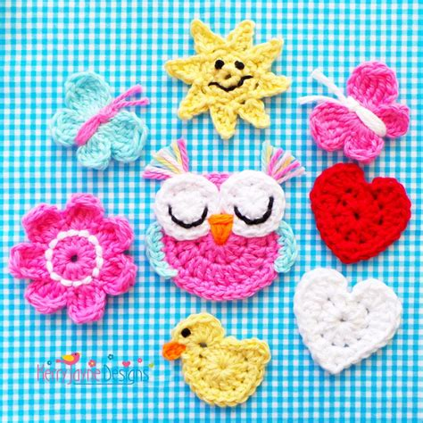 patterns for applique mixed applique crochet pattern kerry jayne designs