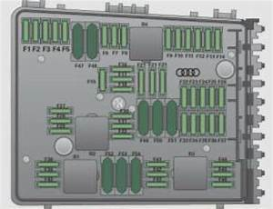 Audi Tts Coupe  2009 - 2010  - Fuse Box Diagram