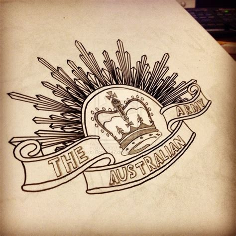 australia anzac badge drawing  roney tattoo ideas