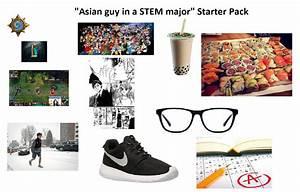 Asian Guy In A STEM Major Starter Pack Starterpacks