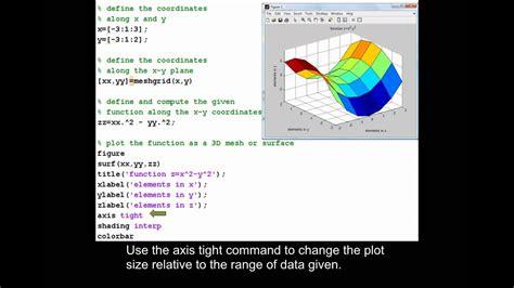 plotting    surface plot  matlab youtube
