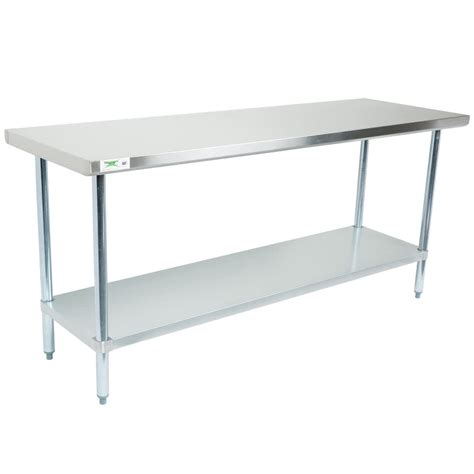 stainless steel table l regency 30 quot x 72 quot 18 gauge 304 stainless steel commercial