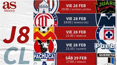 Fechas y horarios de la jornada 8 de la Liga MX - AS México