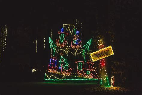 norfolk botanical garden of lights sold out tram ride
