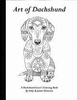 Dachshund Coloring Pages Dachshunds Dog Volume Dogs Physical Etsy Template Drawing Chihuahua Drawings Outline Printable Weiner Colouring Hound Delacruz Books sketch template