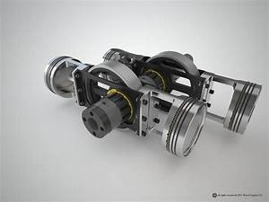 Simplest Opposed Piston Combustion Engine    Create The