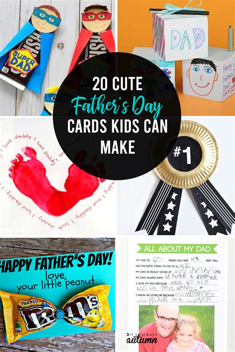 In many countries father's day is celebrated on the third sunday in june, among them the usa, canada, the uk, france, india, china, japan, the philippines and south africa. 20 adorable Father's day card ideas for kids to make! - It ...
