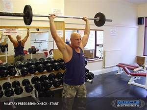 Military Press Behind Neck  Video Exercise Guide  U0026 Tips