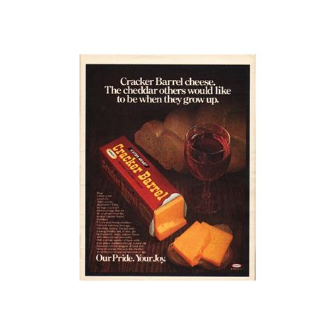 "1980 Cracker Barrel Cheese Vintage Ad ""The cheddar"""