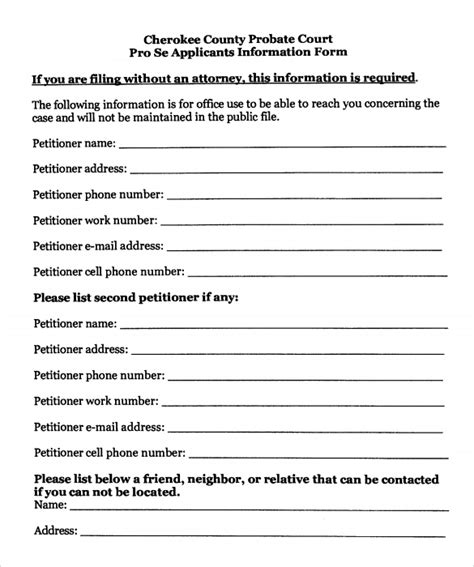 temporary custody form sle temporary guardianship form 8 download documents in pdf word