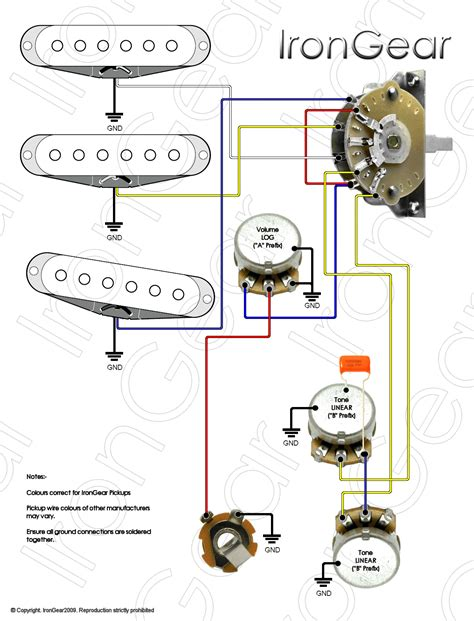 All 6 Part Rotory Way Switch Wiring Diagram by Guitar Grounding Problem Page 2 Fender Stratocaster