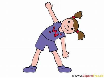 Fitness Cliparts Clipart Gymnastique Utklipp Clip Sports