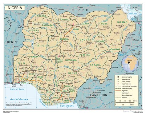 full political map  nigeria nigeria full political map