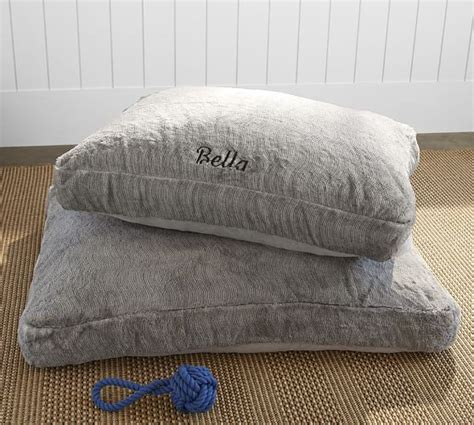 faux fur pet bed cover gray quail pottery barn