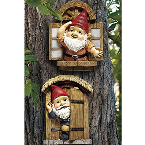 the knothole gnomes garden welcome tree sculpture statue