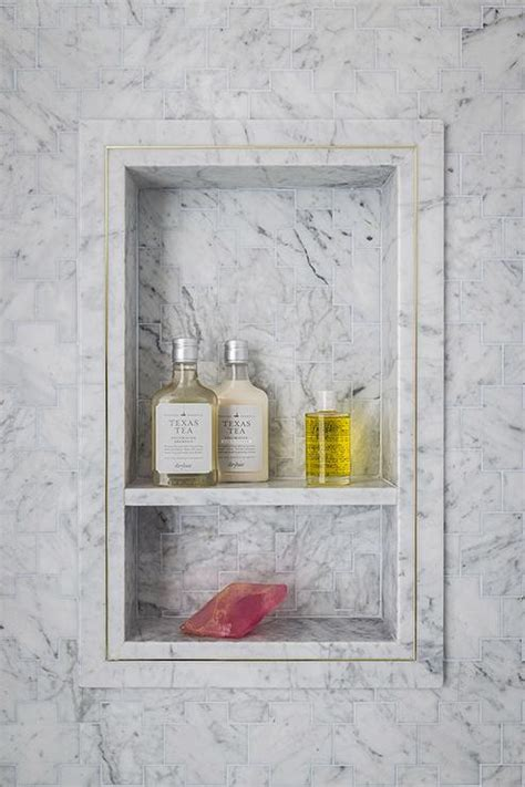 marble shower shelf shower niche design ideas