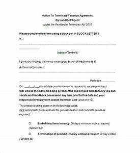 Landlord termination letter sample docoments ojazlink for Notice to end tenancy template