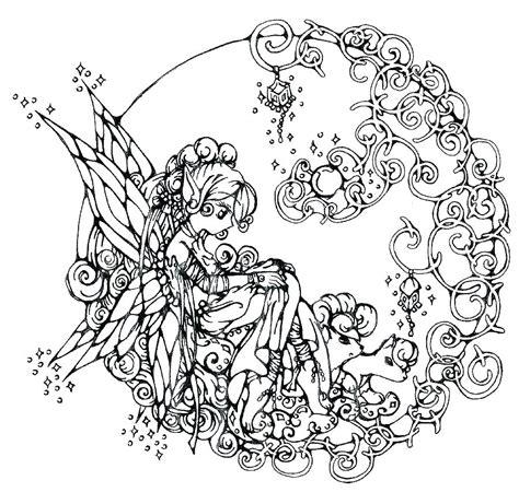 Coloring Pages Gothic Fairies at GetColorings com Free