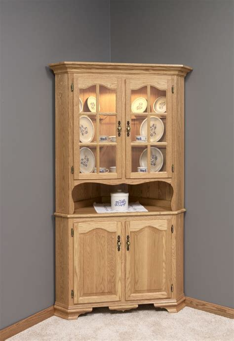 corner kitchen hutch furniture amish country style corner hutch choose 26 quot or 32 quot