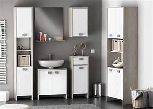 Caillebotis Salle De Bain Avis : meuble bas de salle de bain contemporain blanc ch ne ~ Premium-room.com Idées de Décoration