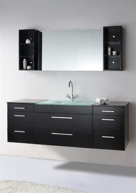 single sink dark espresso wall mount
