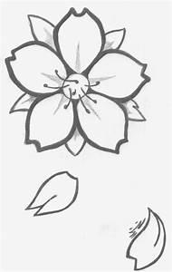 Dessin Fleur De Cerisier Japonais Noir Et Blanc : fleurs tombantes dessin ~ Melissatoandfro.com Idées de Décoration