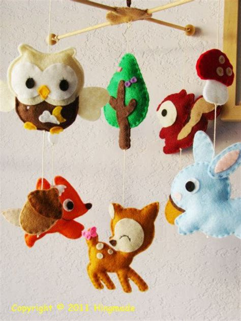 Baby Mobile Baby Crib Mobile Forest Animals Woodland
