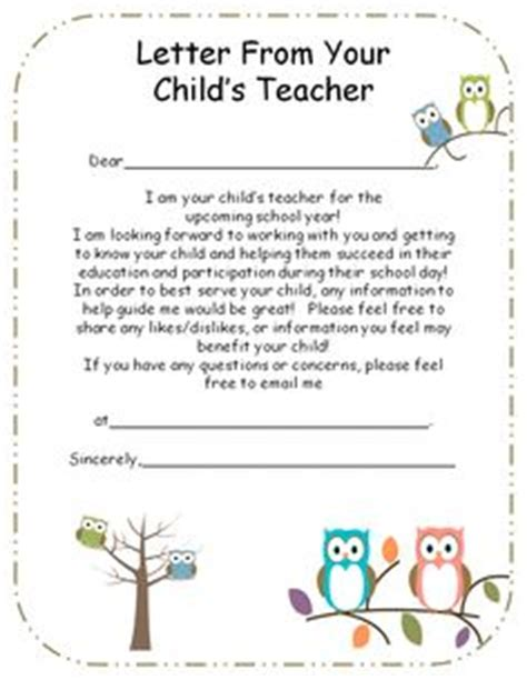 preschool teacher welcome letter introduction letter to parents from preschool 631
