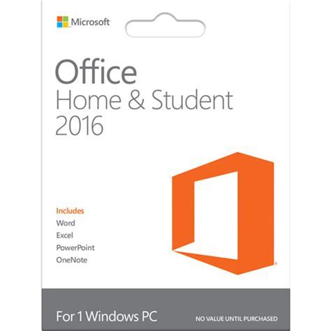 Best Buy: Office Home & Student 2016 (1 PC) Windows 79G 04416