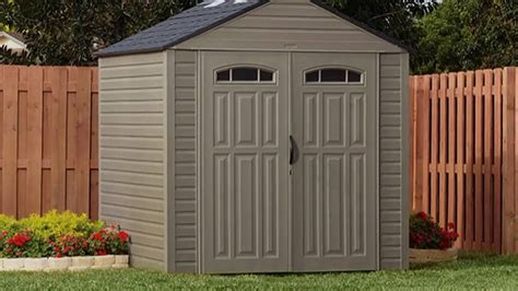 Roughneck 7x7 Shed by Rubbermaid Vinyl Storage Sheds