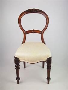 Antique Balloon Back Chair Antique Victorian Mahogany