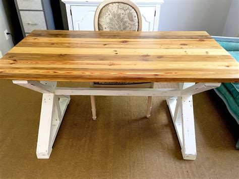 finish  reclaimed table  stain paint